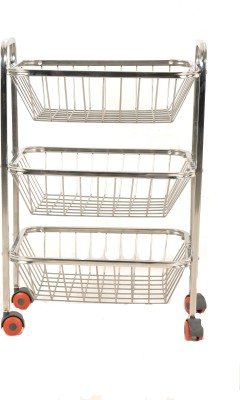 Crystal Trolly Stainless Steel Kitchen Trolley