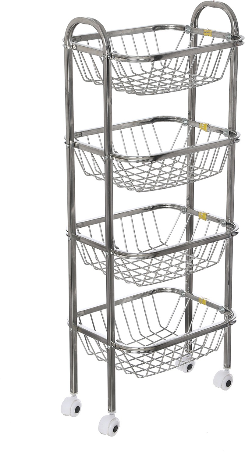 View SHREE SINGHAL Four shelves Stainless Steel Kitchen Trolley Furniture (SHREE SINGHAL)