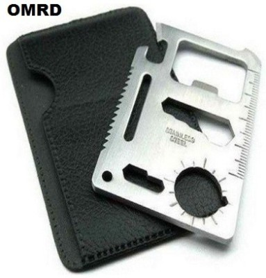OMRD 11 In 1 Pocket Visiting Card Survival Kit Multi Tool Multi Tool(Silver)