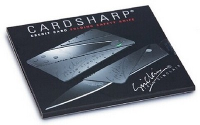 Card Sharp Card Knife Knife, Combat Knife, Campers Knife, Multi Tool, Knife Sheath, Survival Knife, Pocket Knife, Neck Knife, Fixed Blade Knife(Black)