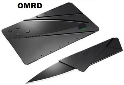 OMRD Credit Card Folding Safety Camping Pocket Knife Pocket Knife(Black)
