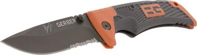Gerber Bear Grylls Scout, Drop Point, Serrated Folding Clip Knife