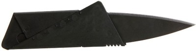 Inventure Retail Funky Foldable Credit Card Shape - A Sharp Folding Safety For Outdoor Use Pocket Knife(Black)