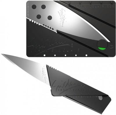Swarish Credit Card Safty Campers Pocket Saw(Black)