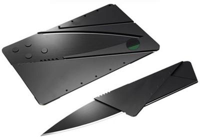 eDeal International Credit Card Folding Safty Campers Knife(Black)