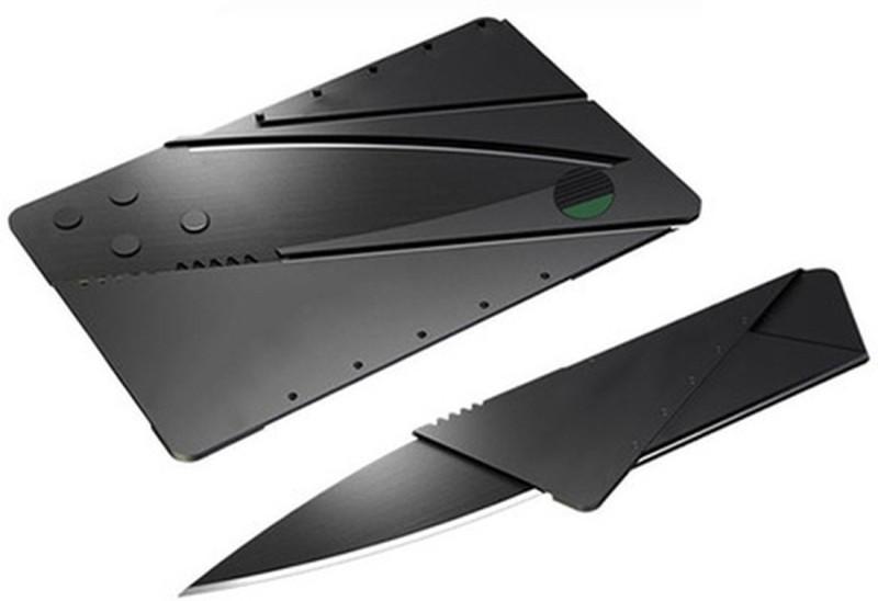 E-DEAL International Credit Card Folding Safty Campers Knife(Black)