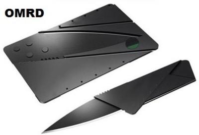 OMRD Credit Card Folding Safty Campers Knife Campers Knife(Black)
