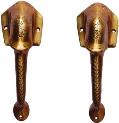 Aakrati Metal Handle in Antique Finish Brass Door Pull