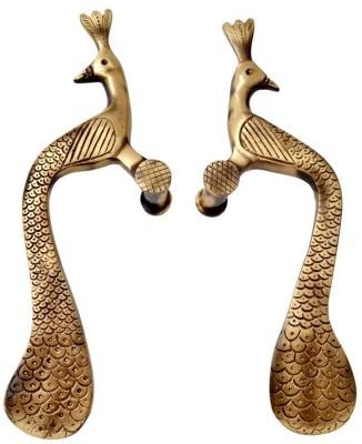 Aakrati Peacock Handle in Antique Finish Brass Door Pull