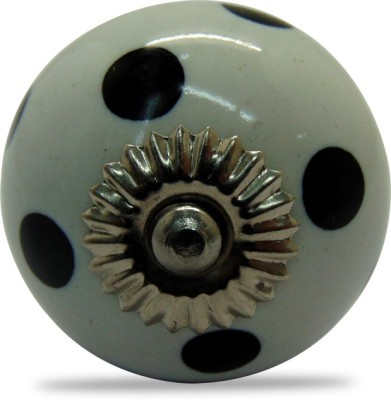 Casa Decor White Polka Dot Ceramic Cabinet/Draw Knob