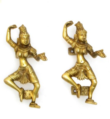 Home Sparkle Dancing Lady Brass Door Knob(Gold Pack of 2)