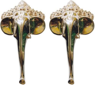 Aakrati Elephant Face Handle Pair Brass Door Pull