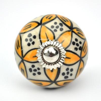 Karmakara Ceramic Door Knob(Multicolor Pack of 1)