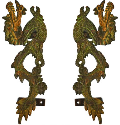 Aakrati Dragon Handle in Antique Finish Brass Door Pull