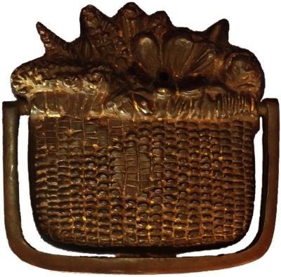 Art Antiqua Copper Basket Door Knocker Brass Door Pull