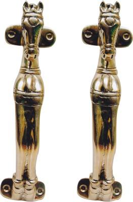 Aakrati Horse Handle Brass Door Pull