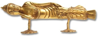 Home Sparkle Buddha Brass Door Knob(Gold Pack of 1)