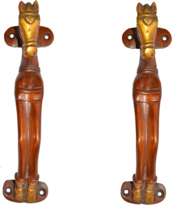 Aakrati Brass Door Pull(Red Pack of 2)