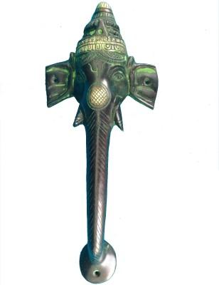 Aakrati Handle of Ganesha in Antique Finish Brass Door Pull