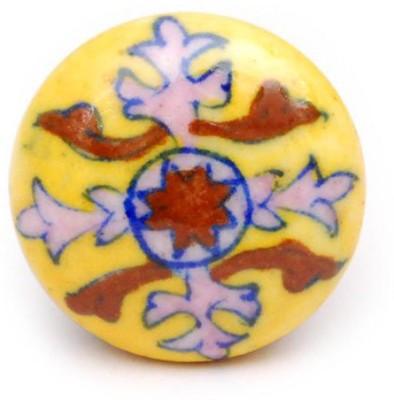 Neerja Ceramic Cabinet/Draw Knob(Yellow Pack of 6)