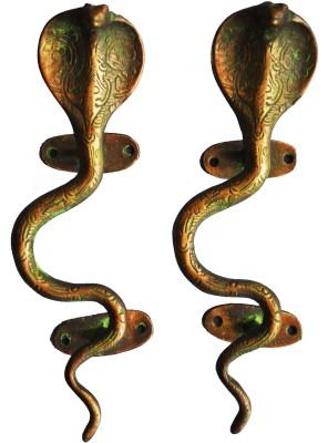 Aakrati Snake Handle Brass Door Pull