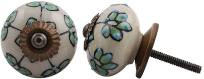 IndianShelf Knobs Ceramic Cabinet/Draw Knob(Multicolor Pack of 2)