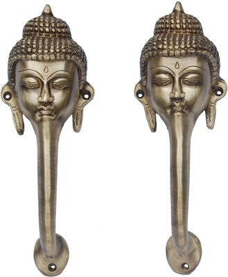 Aakrati Buddha Face Handle Brass Door Pull