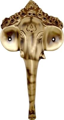 Handecor Ganesha Mask Brass Door Pull
