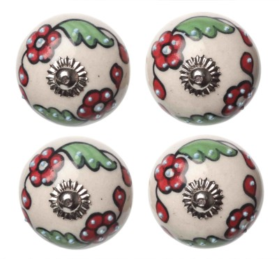 Clay Art Floral Hand Painted Ceramic Cabinet/Draw Knob