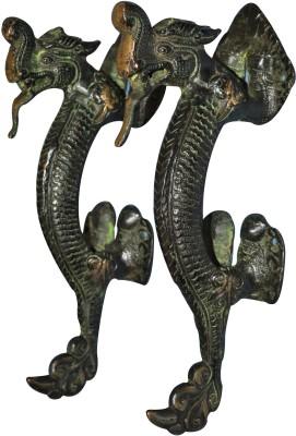 Aakrati Brassware Handle of Dragon Figure Brass Door Pull