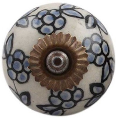 IndianShelf Knobs Ceramic Cabinet/Draw Knob(Multicolor Pack of 4)