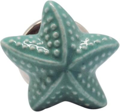 Casa Decor Star Shape Glossy Finish Ceramic Cabinet/Draw Knob