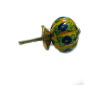 BLUE DECOR Pottery Cabinet/Draw Knob(Multicolor Pack of 5)