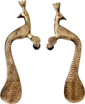 Handecor Designer Peacock Brass Door Pull
