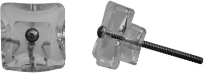 IndianShelf Knobs Glass Cabinet/Draw Knob(Clear Pack of 2)