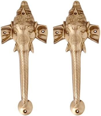 Aakrati Ganesha Handle in Antique Finish Brass Door Pull