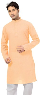 Sai Chikan Solid Men,s Straight Kurta