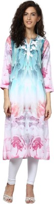 Love From India Floral Print Women's A-line Kurta