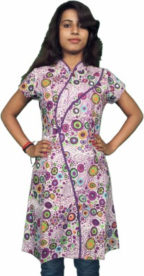Miraaya Printed Women's Straight Kurta(Purple) at flipkart
