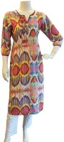 BeforeAfter Printed Womens A-line Kurta(Multicolor)