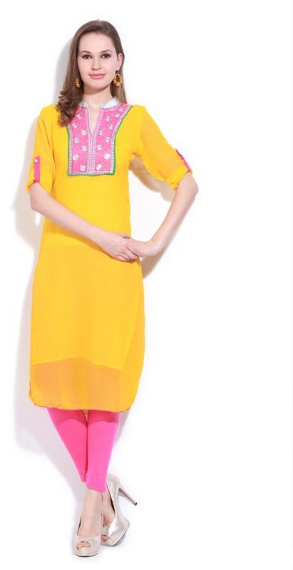 Ishwar Womens Wear Solid Women's Kurta