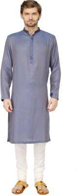 Mayank Modi Solid Men's Straight Kurta