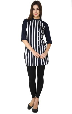 Alom Striped Women's Straight Kurta
