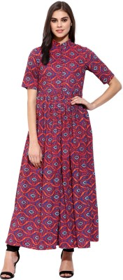 Sassafras Printed Women's Flared Kurta(Multicolor) at flipkart