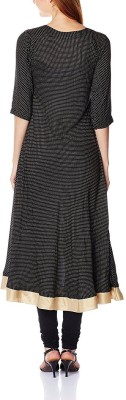 Sun Fashion Applique Women's Straight Kurta(Black) at flipkart
