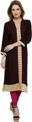 Ritzzy Solid Women's Straight Kurta