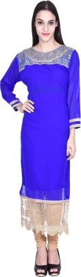 indo trendz Party Self Design Women's Kurti