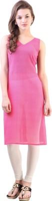Libas Solid Women's Straight Kurta(Pink) at flipkart