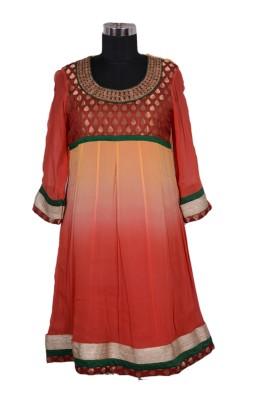 Radhika Goyal Embroidered, Woven, Solid Women's Anarkali Kurta