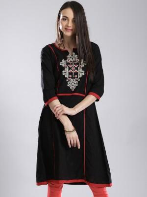 Anouk Embroidered Women's A-line Kurta